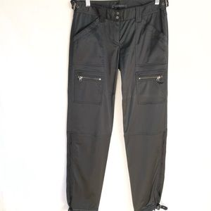 Elie Tahari Motor Pants Buckles Black Women's 4